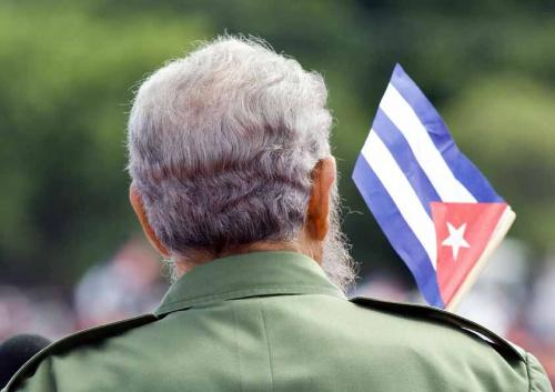 Fidel Castro during May Day speechHavana, Cuba