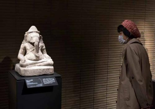 Tokyo National Museum, Japan, Asia. People, tourists, visitors d